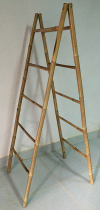 Self Standing Double Bamboo Ladder Racks