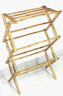 Bamboo Three Tiers Hanging Rack