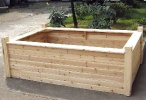 SRB Cedar Seated Raised Bed