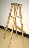 ASH Series Bamboo A Framed Floor Stand