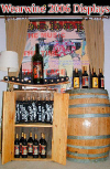 Reclaimed Barrel Liquor Display Racks