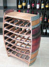 Wine Barrel Rack Display