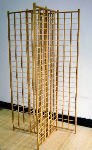 Oak Color Strand Woven Bamboo Gridwall Tower
